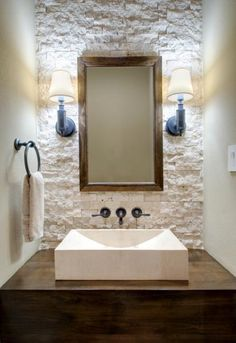 29 white stone bathroom tiles ideas and pictures Powder room. Pendants from ceiling Rustic Bathroom Designs, Rustic Bathrooms, Grey Bathrooms, Bathroom Pink, Ikea Bathroom, Simple Bathroom, Master Bathroom, Bathroom Ideas, Bathroom Vanities