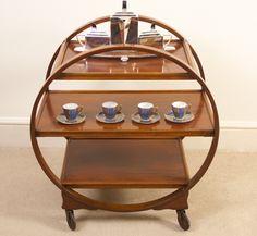 Buy Art Deco Furniture from one of the UK's premier furniture dealers. Discover the Antique Art Deco Walnut Serving Trolley at Regent Antiques., ref. Serving Trolley, Tea Trolley, Drinks Trolley, Art Deco Furniture, Antique Furniture, Antique Art, Art Deco Design, Buy Art, Liquor Cabinet
