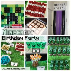 Fab Everyday | Because Everyday Life Should be Fabulous | www.fabeveryday.com: Minecraft-Themed 5th Birthday Party (with Printables!)