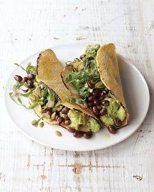 Black bean avocado tacos