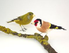 Goldfinch  Mixed media textile bird by PhillipaEngland on Etsy, $75.00