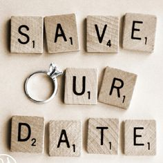 Save The Date with Scrabble Letters