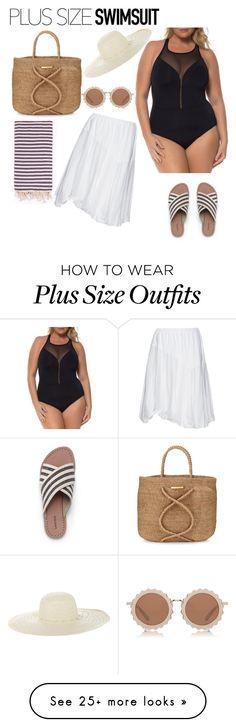 """Plus Size Swimsuit"" by paolacaligirl on Polyvore featuring Kokomarina, Lands' End, ViX, Turkish-T, Jennifer Ouellette, House of Holland, stylishcurves and plussizeswimsuit"