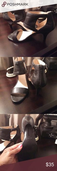 Nine West Black Leather Sandals  -  good condition Nine West Black Leather Sandals  - very good condition Nine West Shoes Sandals