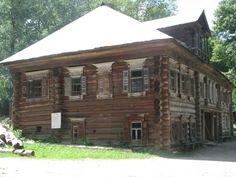 A wealthy family's all wooden house located in the Ethnographic Museum of Niznhy Novgorod, Russia.