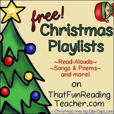 #FREE #Christmas Playlists for Kids ~ #ReadAlouds #Songs #Poems & more!