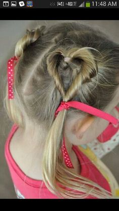 Heart Shaped Pigtails Style