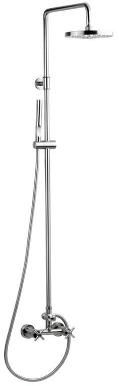 Outdoor Shower Smooth Wall Mount Hot and Cold Water Shower Unit With 8 Inch Disk Shower Head In Stainless Steel Wet Room Shower, Shower Cap, Shower Heads, Outdoor Pool Shower, Cold Water Shower, Garden Shower, Shower Units, Contemporary Style, Modern