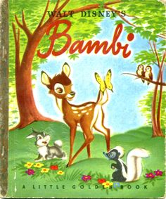 """Walt Disney's Bambi based on the original story by Felix Salten, illustrated by the Walt Disney Studio adapted by Bob Grant...from the Disney movie """"Bambi""""  Simon and Schuster, original copyright 1928. Disney copyright 1941, 1948, H edition"""