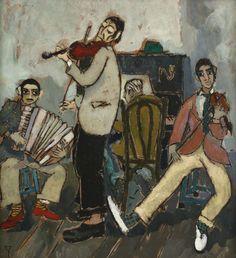 *Dance and music weekends* Constantin Piliuță (1929-2003), Romanian painter