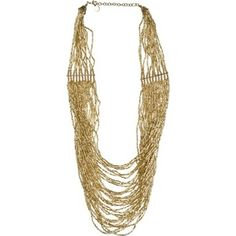 ZAD Gold multi bead necklace