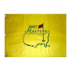 2007 Masters Golf Pin Flag - Zach Johnson Champion by PalmBeachAutographs.com. $60.00. This is an official Masters pin flag that was purchased directly from Augusta National Shop during tournament week. These flags are only made available for sale in the Masters Tournament Merchandise Shops on site at Augusta National, and only for the tournament week. These flags are increasing in value and collectability due to how difficult they are to obtain. We have optio...
