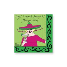 I Speak Spanish Beverage Napkins