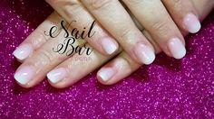 Short baby boomer acrylic nails