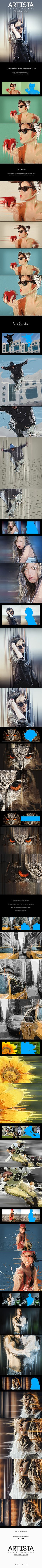 Artista - Mixed Media Art Photoshop Action - Photo Effects Actions