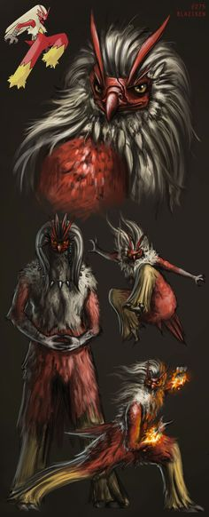 Realistic Blaziken sketchies by catandcrown.deviantart.com on @deviantART