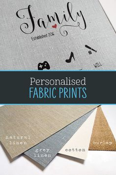 We offer a selection of personalised fabric prints, perfect for a range of special occasions! All designs available in 2 print sizes with black or white framing options for both. Visit our shop to view our full collection. 4th Year Anniversary Gifts, Cotton Anniversary Gifts, Happy Art, Bee Happy, Couple Gifts, Natural Linen, All Design, Printing On Fabric, Special Occasion