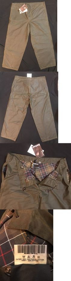 Pants and Shorts 163525: Barbour Sylkoil Overtrousers A839 - Waxed Cotton Pants - Large - New With Tags -> BUY IT NOW ONLY: $166.45 on eBay!