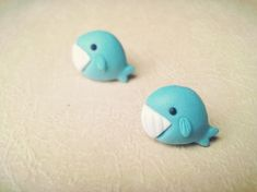 Whale Polymer Clay DIY Earrings. CUTE!!
