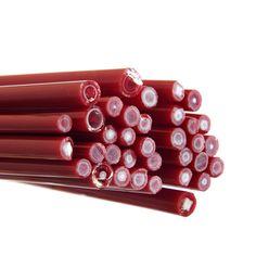 Murrine Cane, CoE90 - Red and White Murrine Cane, CoE90 - Red and White - £5.76 : Warm Glass