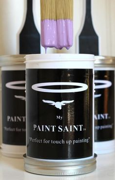 My Paint Saint : all in one brush and paint can solution (details on product and Kickstarter campaign).  I can see using these for furniture paint batches too!  Assuming the MPS can be cleaned when a paint color is no longer in use.