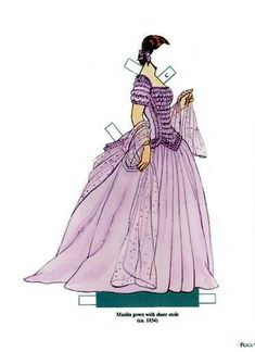 Hoop Skirts and Crinoline | Gabi's Paper Dolls