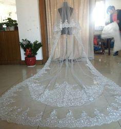 WEDDING Veils Custom-made Stunning Beaded Wedding Veils from Eifflebride with ...