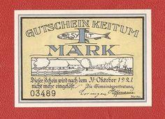 Germany Notgeld 1 mark 1921 Schleswig Holstein KEITUM SYLT #17a