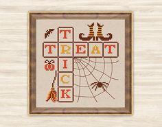 Buy 2 get 1 free Trick or treat Cross Stitch Pattern halloween