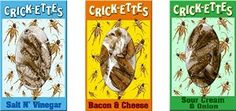 Crick-ettes Sampler Gift Pack- Sour Cream and Onion, Bacon and Cheese, Salt and Vinegar-Pack of 3 Edible Insects, Bugs And Insects, Gourmet Food Gifts, Gourmet Recipes, Sour Cream And Onion, High Protein Snacks, Weird Food, Gag Gifts, Tasty