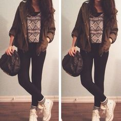 Would skip that kind of jacket but other than that this outfit is perfect :)