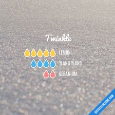 Twinkle - Essential Oil Diffuser Blend Essential Oils Detox, Geranium Essential Oil, Essential Oil Scents, Essential Oil Perfume, Essential Oil Diffuser Blends, Geranium Diffuser Blend, Essential Oil Combinations, Diffuser Recipes, Young Living