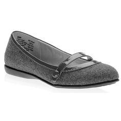 Faded Glory Mimi Mary Jane Flats - grey $15
