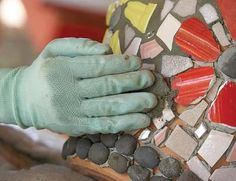 The how to for mosaic work on pottery