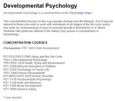 Developmental And Child Psychology majors for college list