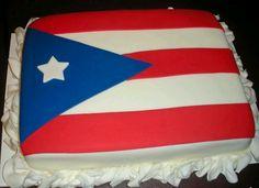 Puerto Rican flag cake.