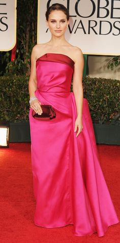 Natalie Portman's Best Red Carpet Looks Ever - At the 2012 Golden Globes from InStyle.com