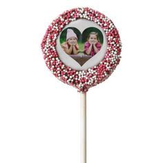 Personalized | Photo Heart Chocolate Dipped Oreo Pop