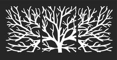 Tree silhouettes without leaves 3d Laser Cutter, Wall Décor, Wall Art, Wardrobe Design Bedroom, Fence Art, Geometry Art, Pool Fence, Plasma Cutting, Tree Silhouette
