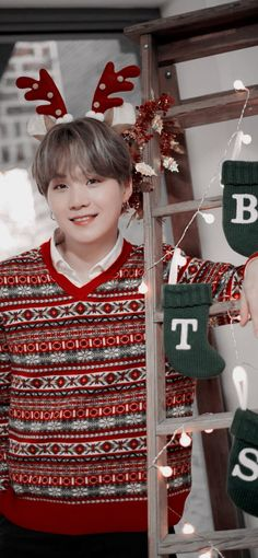 Min Yoongi Bts, Min Suga, Bts Bangtan Boy, Bts Jimin, Hoseok, Bts Christmas, Jikook, Bts Korea, Rapper