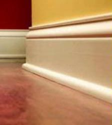 The interior finishes in a house are the ones you can see, from ceiling trim like crown molding, to the baseboard trim, lighting & flooring materials.