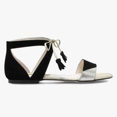 Sandale plate noire