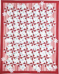 Snowy Day quilt pattern, featured in McCall's Quilting Nov/Dec 2015.  Bev Getschel Design.