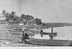 Plaza del mercado, Isla Flores Petén. 1898