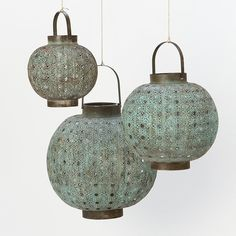 Stow candles inside these Verdigris Filigree Lanterns ($68) for a stunning glow.