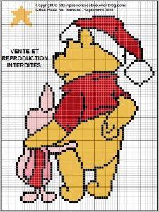 Bonjour, En ce moment, je vous proposais des grilles sur Halloween (et il y en aura d'autres...) mais il faut penser aussi à Noël. Voici donc une petit grille de Winnie et Porcinet. Pour l'imprimer, cliquez sur la photo. Je vous remercie par avance de...