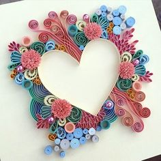 Examples of art quilling - Quilled Paper Art Arte Quilling, Origami And Quilling, Paper Quilling Patterns, Quilled Paper Art, Quilling Paper Craft, Paper Crafts, Quilling Ideas, Hobbies And Crafts, Diy And Crafts