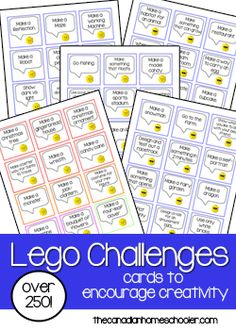 Do your kids love LEGO? Then they will love these challenge cards! With just over 250 cards to choose from, your child can almost do 5 challenges a week to be creative and inspired in their LEGO designs. The cards with the blue squares are all the main challenges – applicable to anyone, with a …