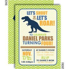 funny dinosaur invitation - Google Search