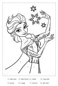 Magique Reine Des Neiges Coloriage Magique Coloriage Reine Des
